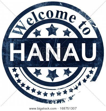 hanau stamp on white background