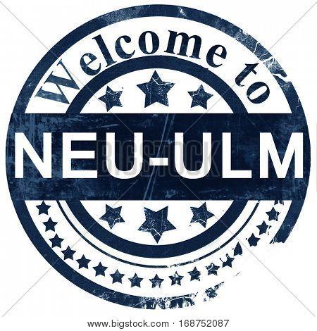 Neu-ulm stamp on white background