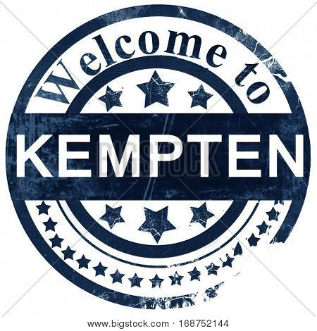 Kempten stamp on white background