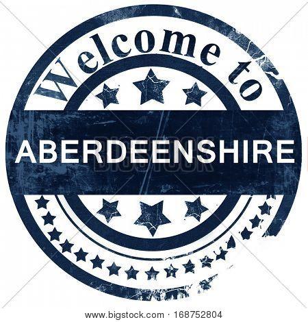 Aberdeenshire stamp on white background