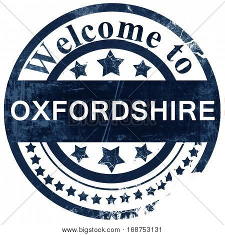Oxfordshire stamp on white background