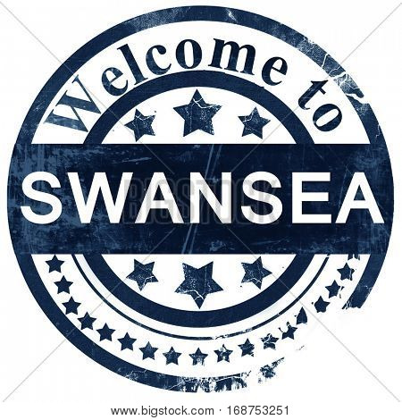 Swansea stamp on white background