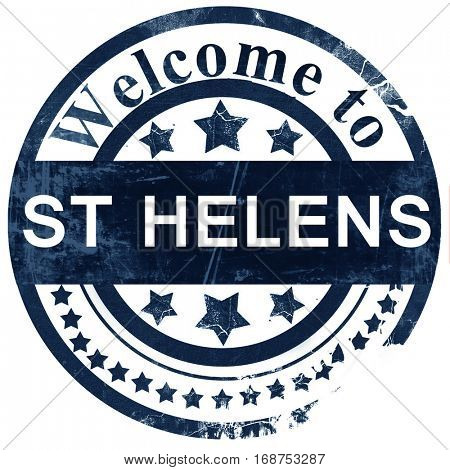 St helens stamp on white background
