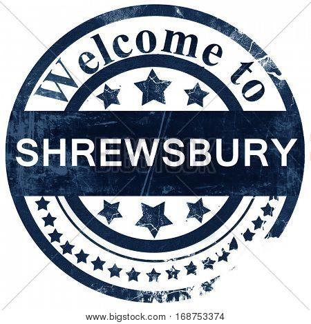 Shrewsbury stamp on white background