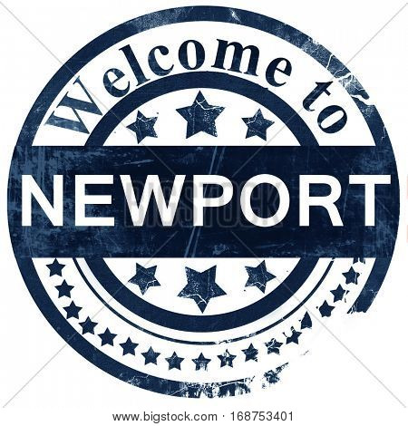 Newport stamp on white background