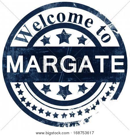 Margate stamp on white background