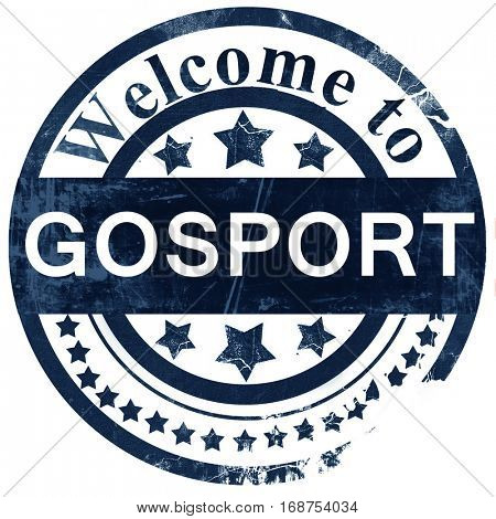 Gosport stamp on white background
