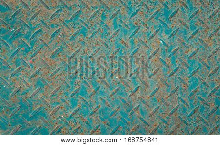 Green anti slip metal floor texture background