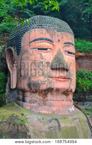 Leshan Giant Buddha (Dafo) is UNESCO World Heritage site, located in Le Shan City, Sichuan Province, China.