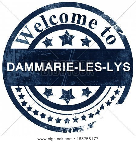 dammarie-les-lys stamp on white background
