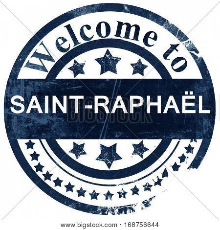 saint-raphael stamp on white background