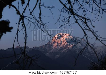Beauty And Grandeur Of Wild Nature. Amazing View Of Gorgeous Ancient Mountains With White Craggy Pea