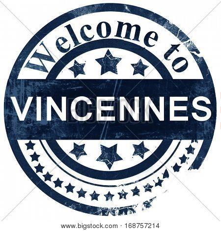 vincennes stamp on white background