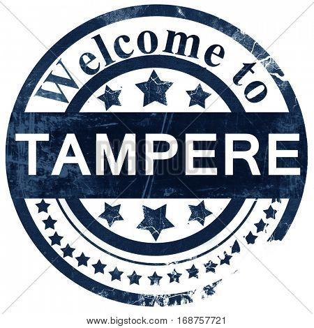Tampere stamp on white background