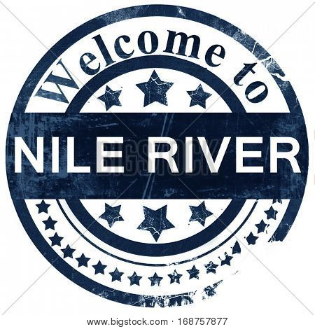 nile river stamp on white background