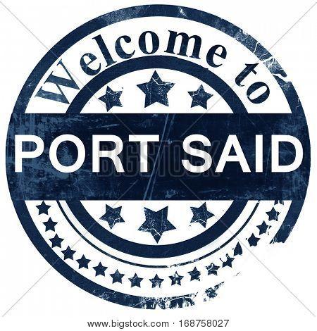 port said stamp on white background