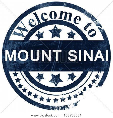 mount sinai stamp on white background