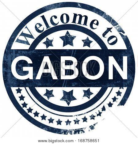 Gabon stamp on white background