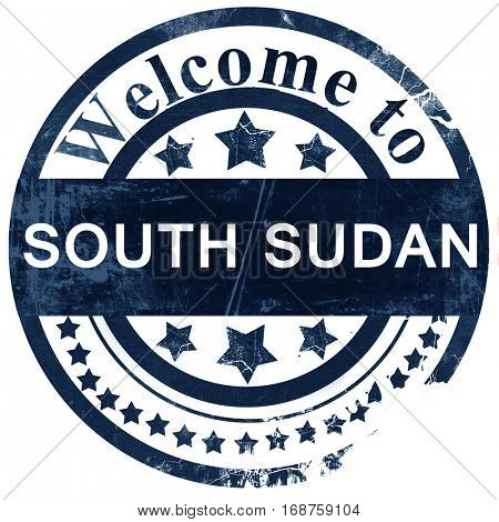 South sudan stamp on white background