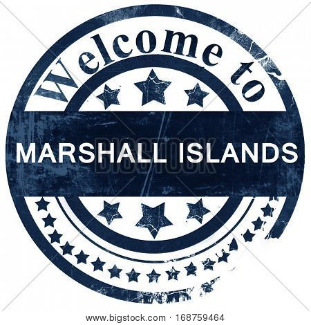 Marshall islands stamp on white background