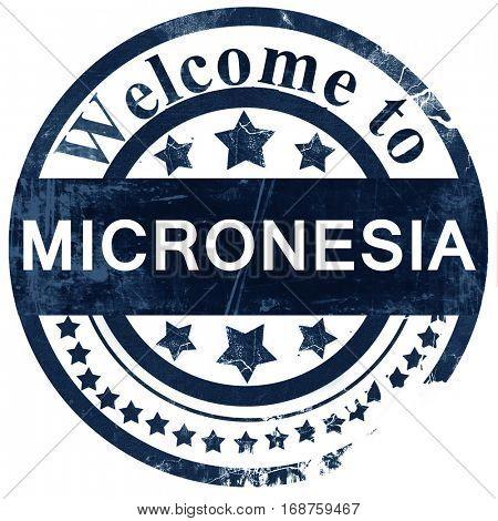Micronesia stamp on white background