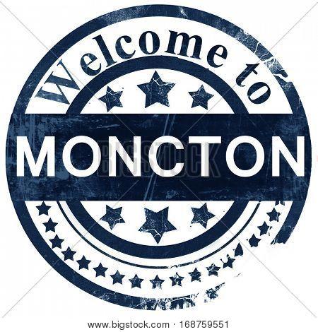 Moncton stamp on white background