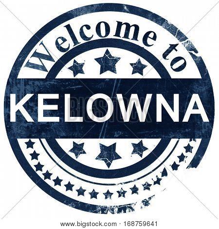 Kelowna stamp on white background