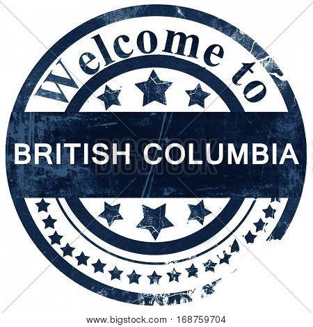 British columbia stamp on white background