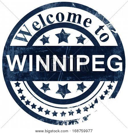Winnipeg stamp on white background