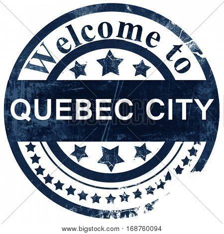 Quebec city stamp on white background