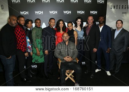 LOS ANGELES - DEC 13:  Cast, Executives at the WGN America's