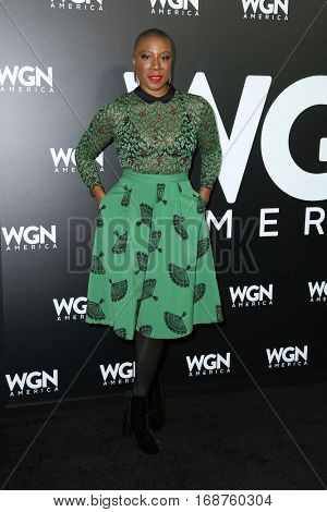 LOS ANGELES - DEC 13:  Aisha Hinds at the WGN America's
