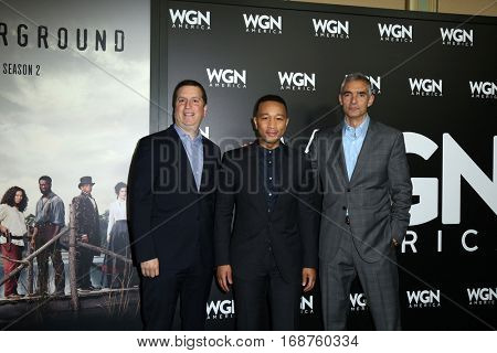 LOS ANGELES - DEC 13:  John Legend, WGN Execs at the WGN America's