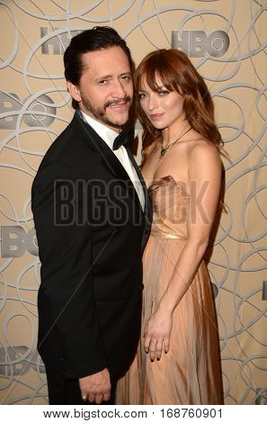 LOS ANGELES - JAN 8:  Clifton Collins Jr, Francesca Eastwood at the HBO Golden Globes After-Party at Circa 55 at Beverly Hilton Hotel on January 8, 2017 in Beverly Hills, CA