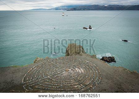 San Francisco land's end labyrinth rock maze