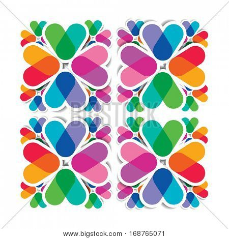 Seamless pattern - overlapping colors, geometrical design