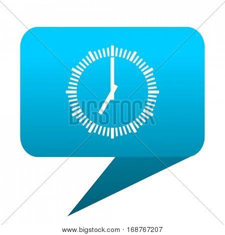 Time blue bubble icon