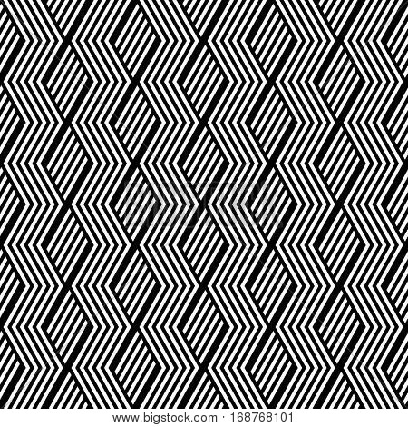 Seamless zigzag lines pattern. Geometric texture. Vector art.
