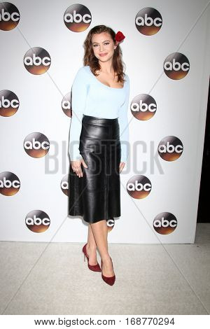 LOS ANGELES - JAN 10:  Elvy Yost at the Disney/ABC TV TCA Winter 2017 Party at Langham Hotel on January 10, 2017 in Pasadena, CA