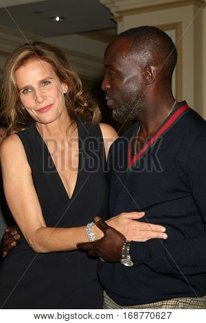 LOS ANGELES - JAN 10:  Rachel Griffiths, Michael Kenneth Williams at the Disney/ABC TV TCA Winter 2017 Party at Langham Hotel on January 10, 2017 in Pasadena, CA