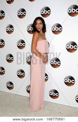 LOS ANGELES - JAN 10:  Chloe Bennet at the Disney/ABC TV TCA Winter 2017 Party at Langham Hotel on January 10, 2017 in Pasadena, CA