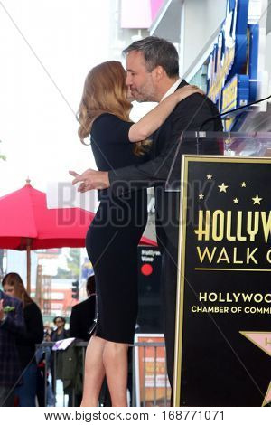 LOS ANGELES - JAN 11:  Denis Villeneuve, Amy Adams at the Amy Adams Star Ceremony at Hollywood Walk of Fame on January 11, 2017 in Los Angeles, CA