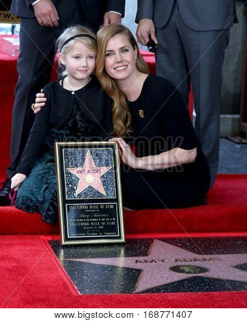 LOS ANGELES - JAN 11:  Aviana Olea Le Gallo, Amy Adams at the Amy Adams Star Ceremony at Hollywood Walk of Fame on January 11, 2017 in Los Angeles, CA