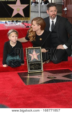 LOS ANGELES - JAN 11:  Aviana Olea Le Gallo, Amy Adams, Darren Le Gallo at the Amy Adams Star Ceremony at Hollywood Walk of Fame on January 11, 2017 in Los Angeles, CA