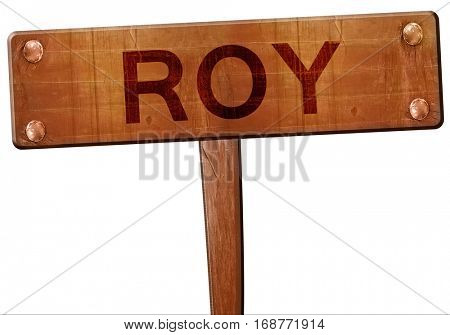 roy road sign, 3D rendering