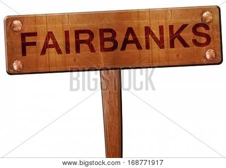 fairbanks road sign, 3D rendering