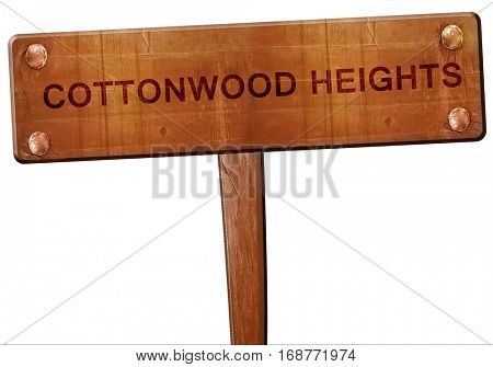 cottonwood heights road sign, 3D rendering