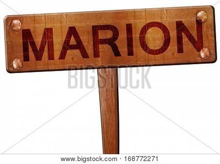 marion road sign, 3D rendering