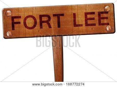 fort lee road sign, 3D rendering