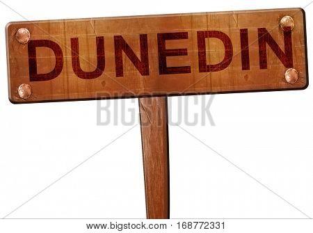 dunedin road sign, 3D rendering